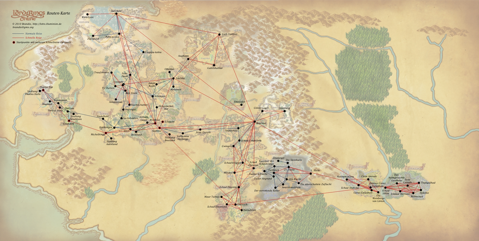travel routes maps